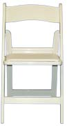 Chair, White Resin with padded Seat