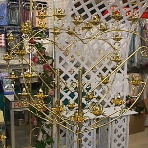 Candelabra, Brass Heart Shaped