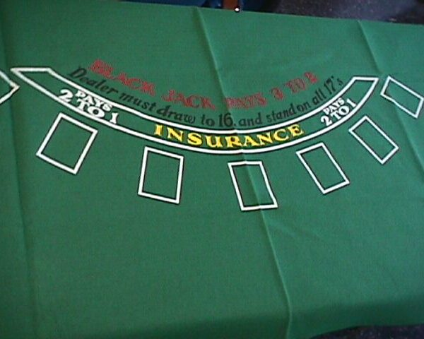Blackjack or Craps Table layouts