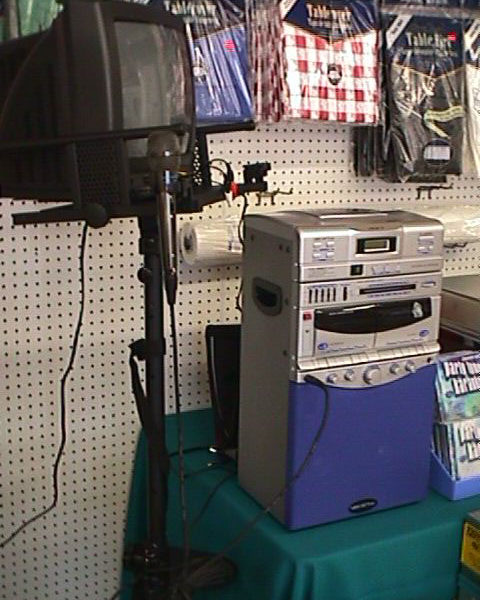 Karaoke Machine with Monitor